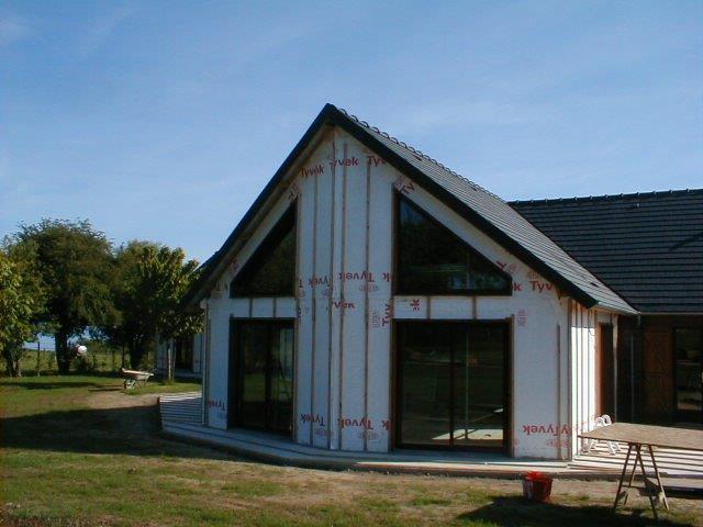 Extension sur l vation mob garage fabrication sur mesure menuiserie int rieur et exterieur - Garage ossature bois sur mesure ...