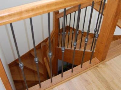 Escalier tournant ch ne alu paluel fabrication sur mesure menuiserie int rieur et exterieur - Prix escalier sur mesure ...