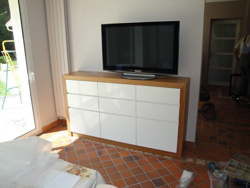 Fabrication D Un Meuble Tv Bois Guillaume Fabrication Sur  # Fabriquer Meuble Tv En Medium