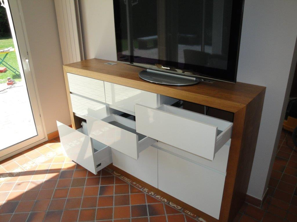 Fabrication D Un Meuble Tv Bois Guillaume Fabrication Sur  # Fabriquer Meuble Tv Bois